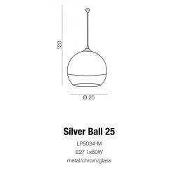 SILVER BALL 25 LP5034-M LAMPA WISZĄCA AZZARDO
