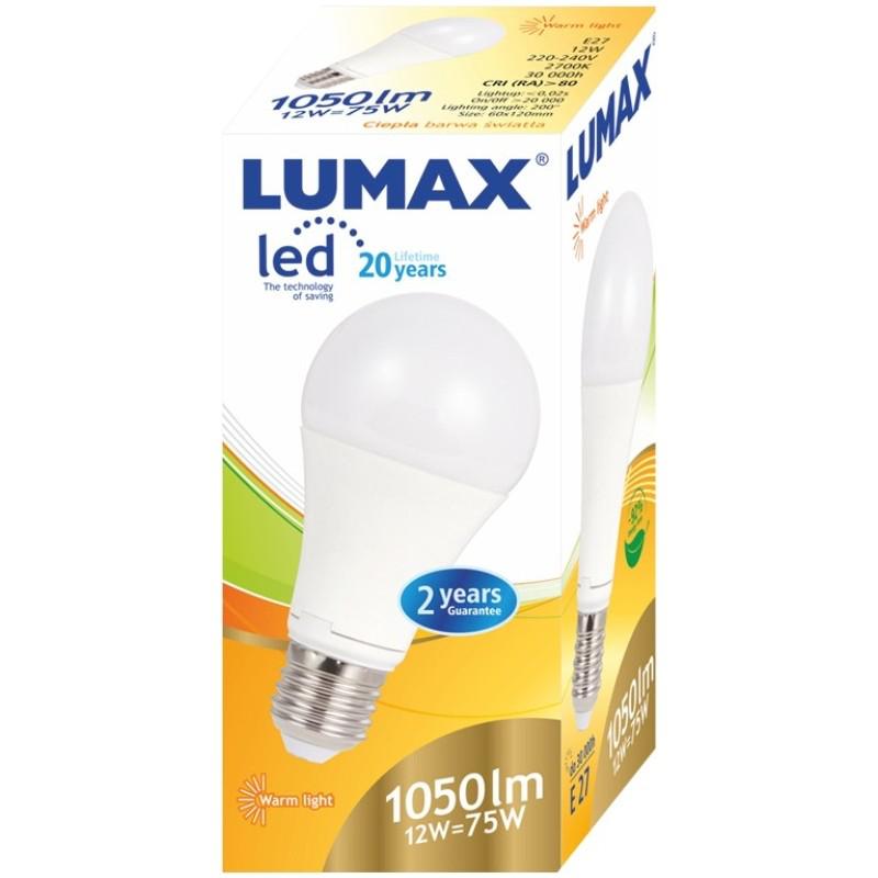 LUMAX LL081P A60 12W - 75W E27 2700K ŻARÓWKA LED