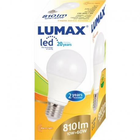 LUMAX LL082P A60 10W - 60W E27 2700K ŻARÓWKA LED