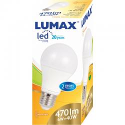 LUMAX LL085P A60 6W - 40W E27 2700K ŻARÓWKA LED