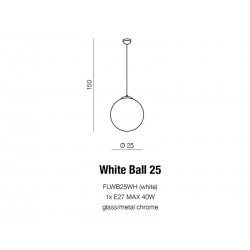 WHITE BALL 25 LAMPA WISZĄCA AZZARDO FLWB25WH