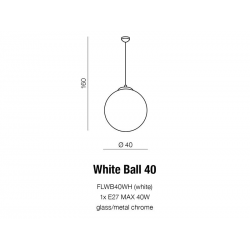 WHITE BALL 40 LAMPA WISZĄCA AZZARDO FLWB40WH