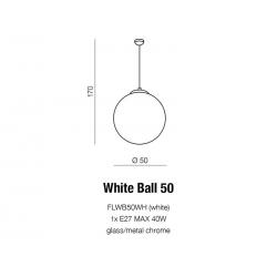 WHITE BALL 50 LAMPA WISZĄCA AZZARDO FLWB50WH