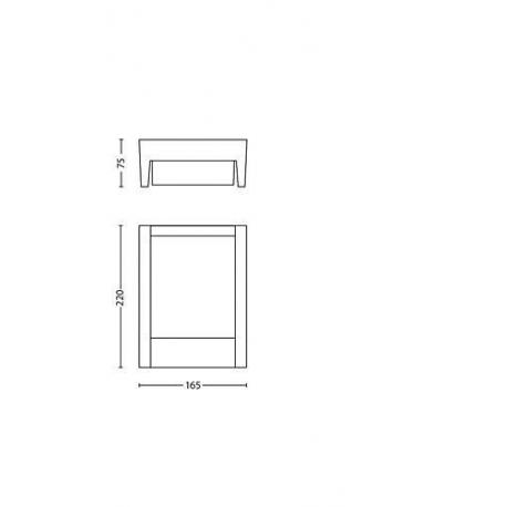 __ dostępne __ ARBOUR 16460/93/16 KINKIET OGRODOWY LED PHILIPS