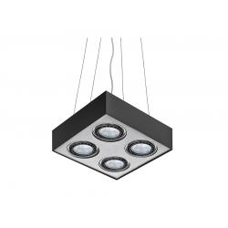 PAULO 4 230V LAMPA WISZĄCA GM5400 CZARNY/ALUMINIUM AZZARDO