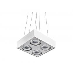 PAULO 4 230V LAMPA WISZĄCA GM5400 BIAŁY/ALUMINIUM AZZARDO