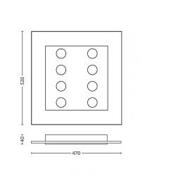 MATRIX 40929/60/16 409296016 PLAFON LAMPA SUFITOWA PHILIPS