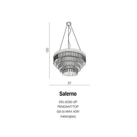 SALERNO PENDANT DEL-6293-5P LAMPA WISZĄCA AZZARDO