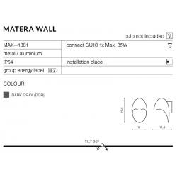 MATERA WALL MAX—1381 KINKIET AZZARDO OGRÓD