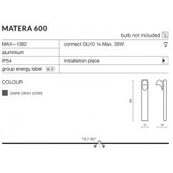 MATERA 600 MAX—1382 LAMPA OGRODOWA AZZARDO