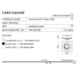 CARO S SN-6811S-WH OPRAWA WPUSZCZANA W SUFIT AZZARDO