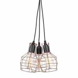 PERIFO LAMPA WISZĄCA MDM-2272/3 BK+COP ITALUX