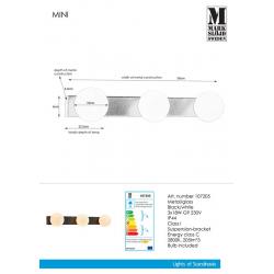 MINI 107205 Kinkiet 3l Czarny/Biały IP44 MARKSLOJD