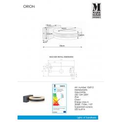 ORION 106915 KINKIET ogrodowy MARKSLOJD LEDOWY LED