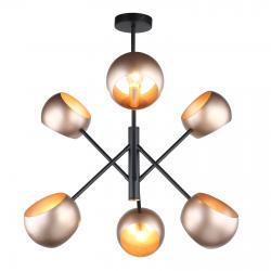 CAVAZZA LAMPA WISZĄCA MDM-3690/6 BK+GD ITALUX