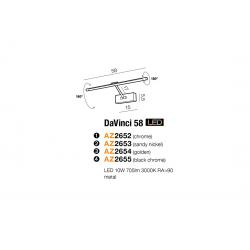 DAVINCI 58 CHROME KINKIET LED NAD LUSTRO AZZARDO AZ2652