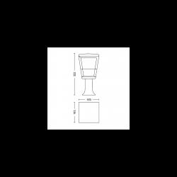ECONIC 1744130P7 17441/30/P7 LAMPA ZEWNĘTRZNA SŁUPEK PHILIPS HUE
