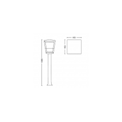 ECONIC 1744230P7 17442/30/P7 LAMPA ZEWNĘTRZNA SŁUPEK PHILIPS HUE