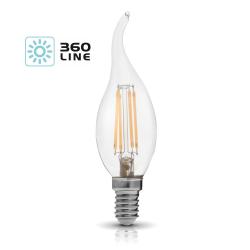 Żarówka LED E14 FDE 4W barwa 3000K 360 Line KOBI
