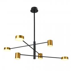 REMDAL  PND-16374-6 BK+GD  LAMPA WISZĄCA  ITALUX