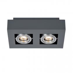 CASEMIRO  IT8002S2-BK/AL  LAMPA SUFITOWA/PLAFON ITALUX