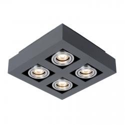 CASEMIRO  IT8002S4-BK/AL  LAMPA SUFITOWA/PLAFON ITALUX