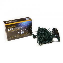 KCHK100GB  LAMPKI CHOINKOWE BIAŁE LED Z PROGRAMATOREM IP44  KOBI  5902846017868