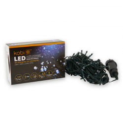 KCHK100B  LAMPKI CHOINKOWE BIAŁE LED Z PROGRAMATOREM IP44  KOBI  5902846018087