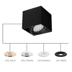 CARDI I NERO/UFO CROMO LAMPA NATYNKOWA ORLICKI DESIGN