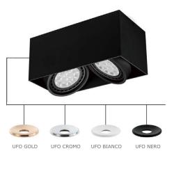 CARDI II NERO/UFO CROMO LAMPA NATYNKOWA ORLICKI DESIGN