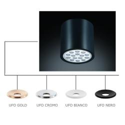 NEO CROMO NERO /UFO BIANCO LAMPA NATYNKOWA ORLICKI DESIGN
