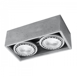 SOLLUX LAMPA NATYNKOWA/PLAFON QUADRO 1 beton SL.0884