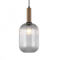 ANTIOLA  PND-5588-1L-BRO+CL  LAMPA WISZĄCA ITALUX